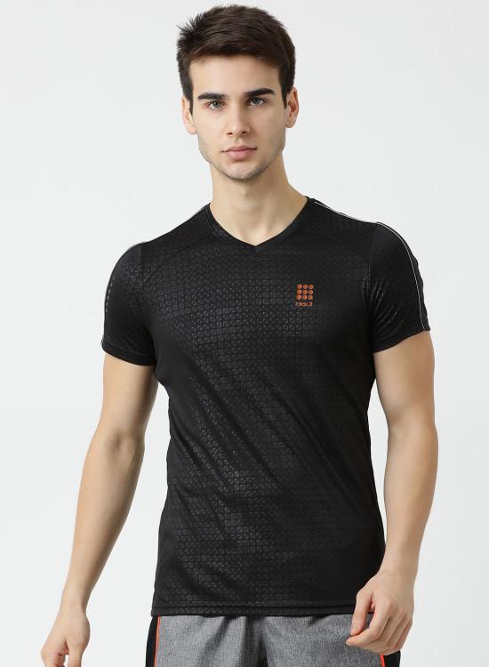 8c8cd801946c Rock.it Black Solid V Neck T Shirt 2190100410-1 1195 598 (50% OFF)
